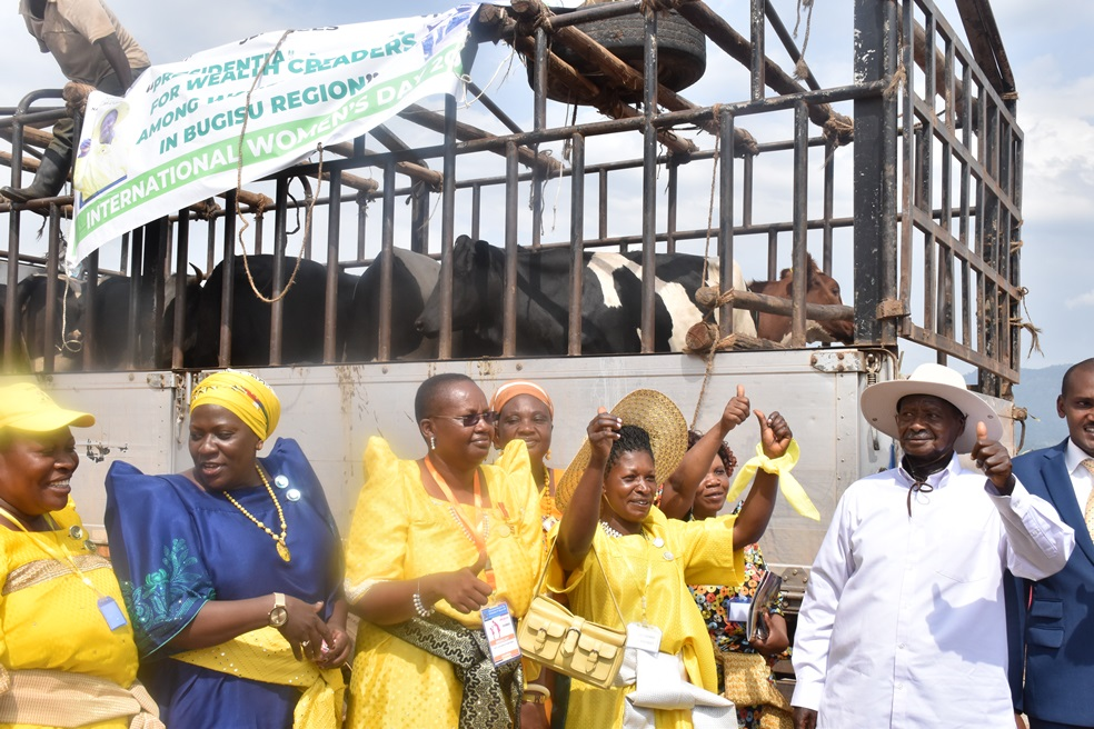 Women Leaders in Mbale district Receive 10 Heifers