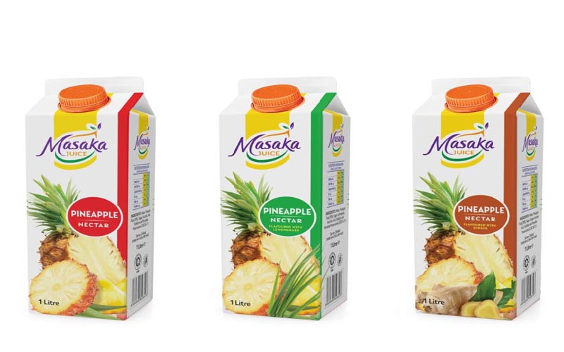 Sample Pineapple Fruit Blend Products Undergoing Product Development at UIRI